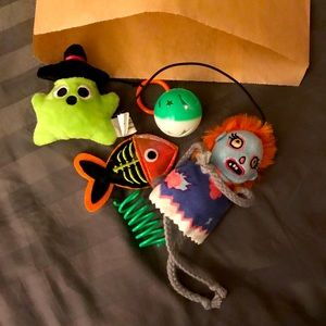 5 cat toy mystery bag Halloween edition 🎃